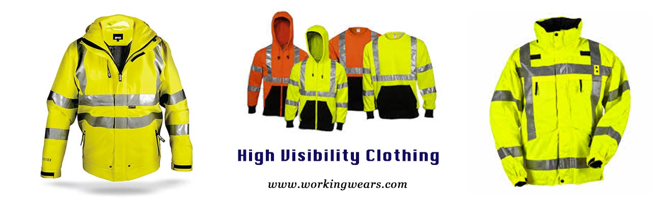 High visibility clothing banner